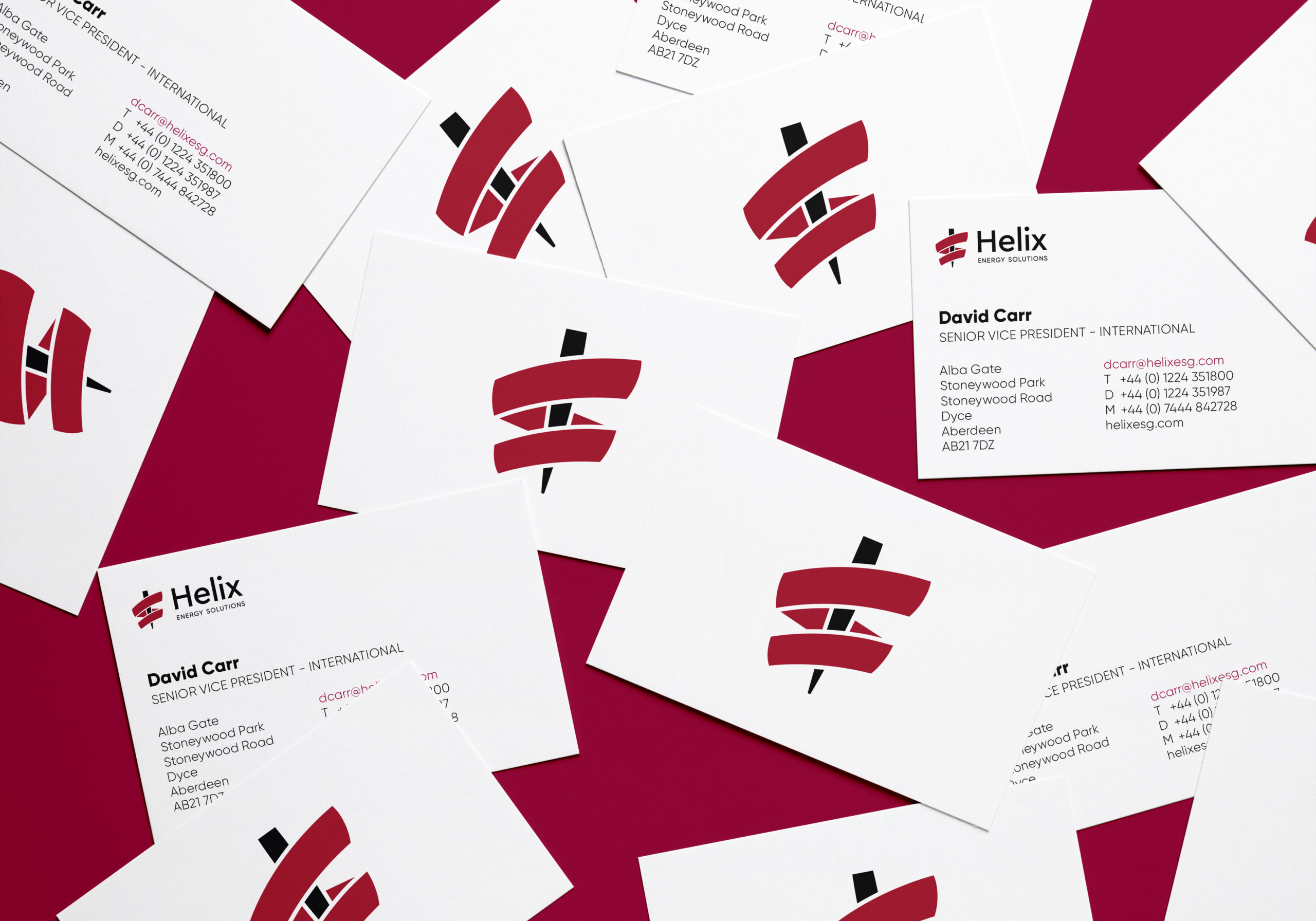 Helix Energy Solutions business cards
